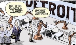 Romney a Detroit